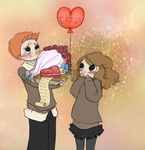Ron and Hermione by Tryaki-chan