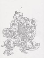Hellboy Sketch Pencils by KurtBelcher1