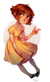 Yellow dress by lulles
