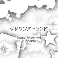 Shoujo Wonderland Brushes by kabocha