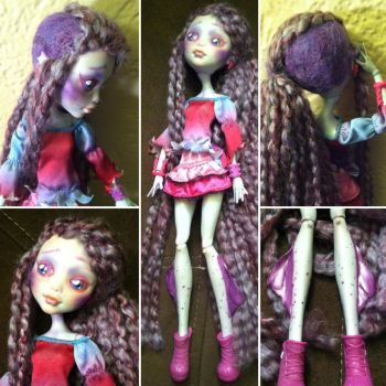 Flocked Lagoona Blue: Monster High Custom by TerribleToadQueen