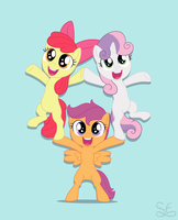 Cutie Mark Crusaders Print by Sigma-the-Enigma