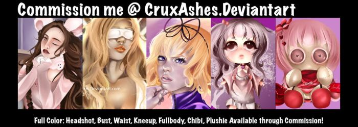 Commission Advertisement ! Open For Commissions ! by CruxAshes