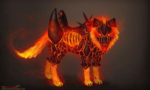 Magma wolf mount concept by itzaspace