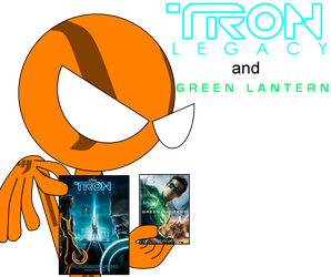 TRON Legacy and GREEN LANTERN i got the dvds by DirtyDirtySam