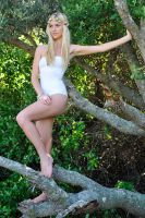 Kahli - white fairy in tree 4 by wildplaces