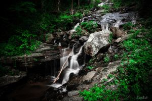 Amicalola Falls State Park: Lower Fall Part by Natures-Studio