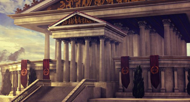 the Temple of Jupiter Optimus Maximus Capitolinus by BenHinman