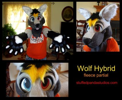 Wolf Hybrid fleece partial by stuffedpanda-cosplay