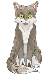 Grey Cat by ScribalWriter