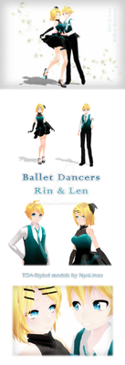 TDA - Ballet Dancers Rin and Len by NyaLinaa