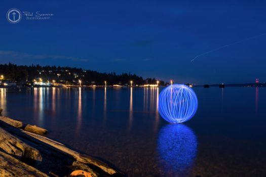 Blue Orb At Lincoln Park Beach by SilentMobster42