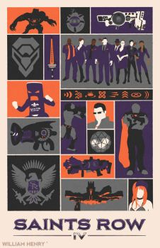 Saints Row IV poster by billpyle