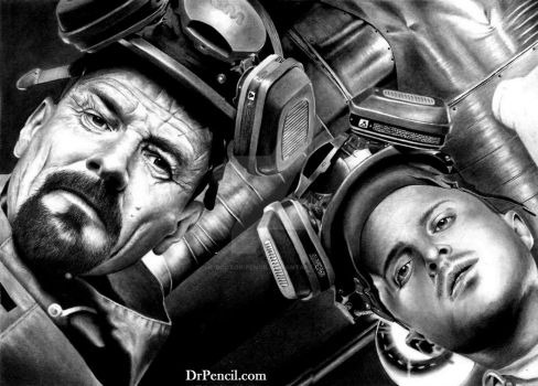 Walt and Jesse in Super-Lab BREAKING BAD by Doctor-Pencil