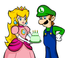 Gift: A Cake for Luigi? by BeCos-We-Can-Cosplay