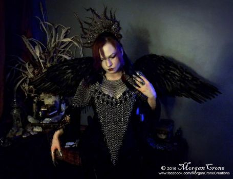 Queen of the Corvids Costume 3 by MorganCrone