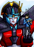 Spock and Windblade by SoundBluster