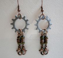 Robot Earrings by ChristinaRoth333