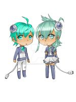 Adoptables cyber twins [CLOSED] by kanoii-chi