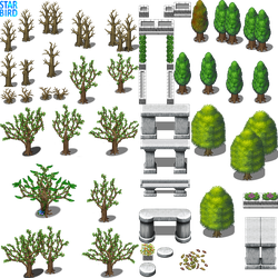Tree and Monument Tiles - RMMV RTP Edits by StarbirdResources