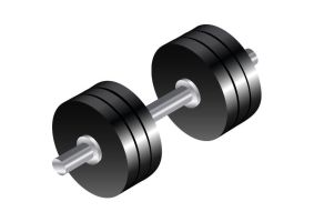 Isometric-dumbbell-vector by superawesomevectors