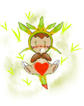Chespin's Red Rocket (censored) by PortableCat