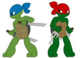 Leo and Raph by LittleChaCha