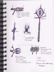 Scarlet Armies - Fallen Ranged Weapons - Colour by Wingcap1