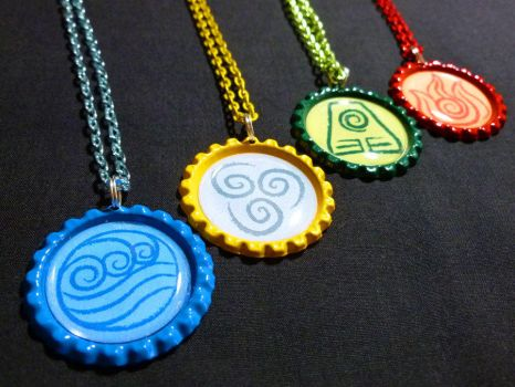 Avatar the Last Airbender/ Korra Bending Necklaces by Monostache