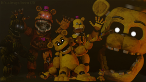 (FNaF SFM) The Haunted Golden Suits by Tem-Zilla