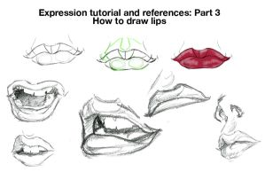 How to draw exprssns: Lips by chronicdoodler