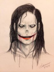 Jeff the Killer (color pencil) by SUCHanARTIST13