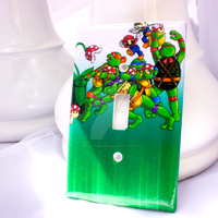 Mushroom Pizza Light Switch Cover by thedustyphoenix