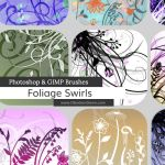 Foliage Swirls Photoshop and GIMP Brushes by redheadstock