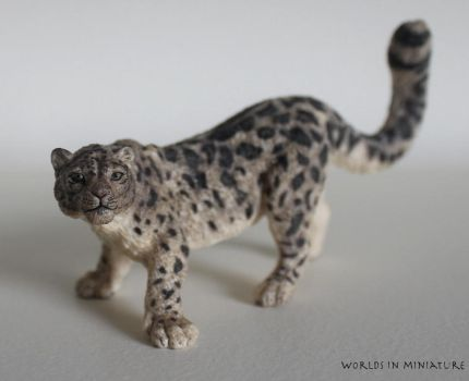 Snow Leopard by Worlds-in-Miniature