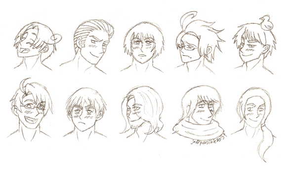 Hetalia Busts by TeamPossible