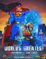 World's Greatest: Superman x Son Goku Poster by DBSpriteFight
