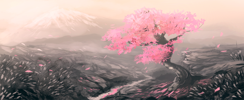 Weekly Speedpaint Challenge: Cherry Blossom by NukeRooster