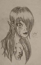 Elf girl sketch 2018 by Jempower