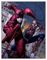 Daredevil and Spidey by spidermanfan2099