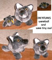 New Wereball and Owlie by Rahball