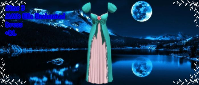 Sims 3 Ella Enchanted Dress MMD DL by xXMMDStoreXx