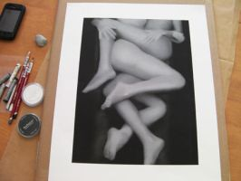 Working on Black and White 'Entwined' by EroticVisions