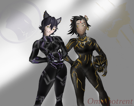 RWBY: The Panther Goddess and the Jungle Cat Queen by Omnipotrent