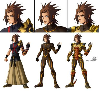 Terra KH Armor / clothes versions by MCAshe