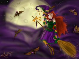 The Bat Witch by Checker-Bee