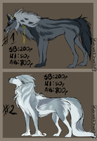 CANINE AUCTION Closed by AlternVerna