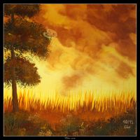 Autumn Sunset by Clu-art