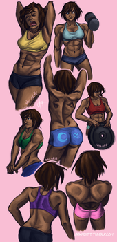Korra anatomy practice by blindbandit5