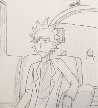 Rick Sanchez (Rick and Morty) by Alivoir
